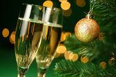 Champagne glasses — Stok fotoğraf