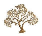 Gold tree isolated — Stock Photo