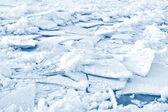 Sfondo ghiaccio incrinato — Foto Stock
