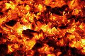 Burning charcoal — Stock Photo