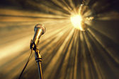 Microphone on stage — Stock Photo