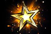 Estrella de oro sginy — Foto de Stock
