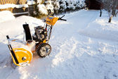 Snow blower — Stock Photo