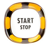 Power button with start and stop sign — Stock Photo