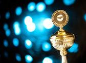 Gold trophy — Стоковое фото
