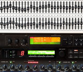 Detail of music mixing console — Stock Photo