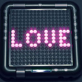 Love digital message — Foto de Stock