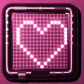 Heart digital symbol — Stockfoto