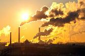 Power plant with smoke — Stock Photo