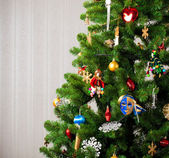 Part of decorated Christmas tree — Stock Photo