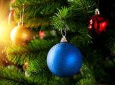 Boże Narodzenie dekoracje z blask błyszczący — Zdjęcie stockowe