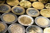 Monety tło — Zdjęcie stockowe