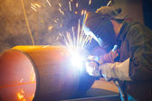 Welder at work — Stockfoto