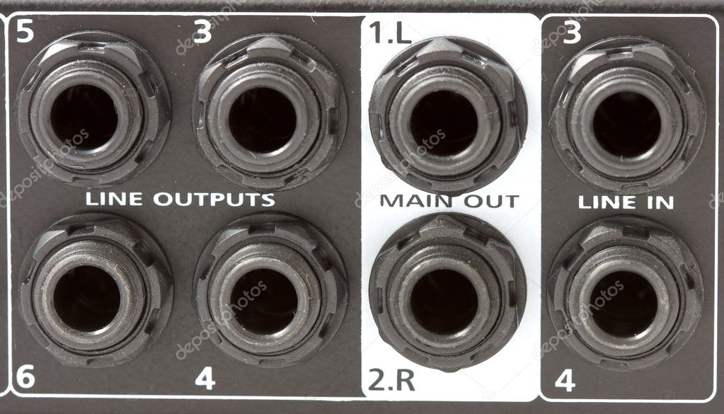 Mixer inputs and outputs — Stock Photo #10231408
