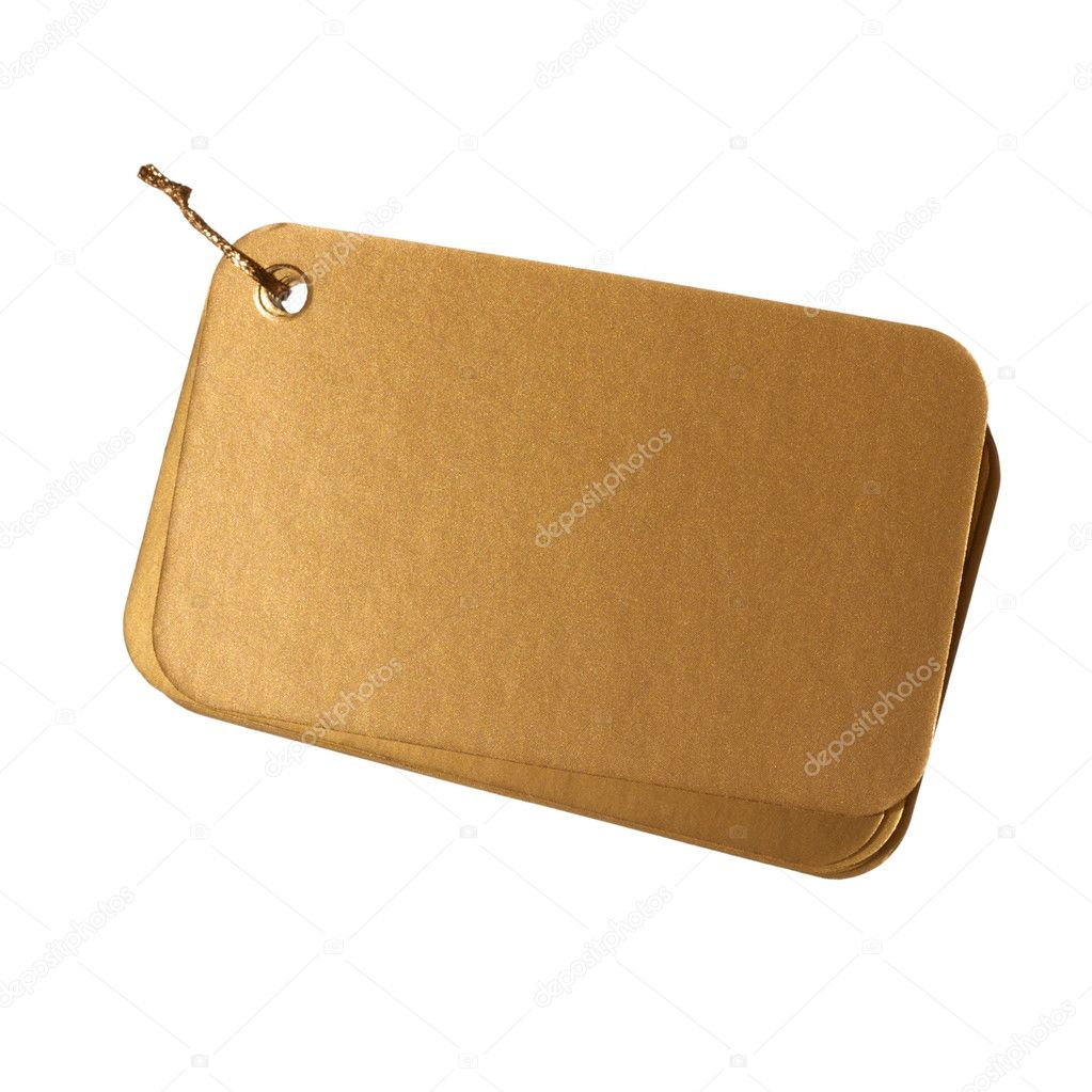 Blank gift tag  Stock Photo #10231468