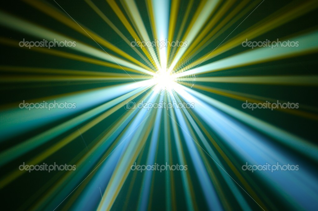 Disco ball with rays in haze — Stock Photo #10231665