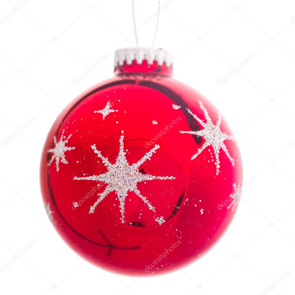 Red Christmas decoration isolated on white — Stock Photo #10238991