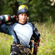 ������, ������: Paintball shooter in the field