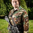 Light infantry soldier - Stock Photo