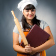Stock Photo: Smiling womcook