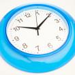 Blue office clock — Stock Photo #10243705