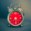 Vintage red alarm clock — Stock Photo