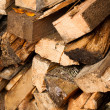 Wood log stockpile background — Stock Photo
