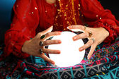 Fortune-teller's hands — Stock Photo