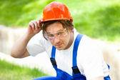Engenheiro ao ar livre — Foto Stock