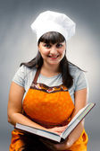 Happy woman cook — Stock Photo