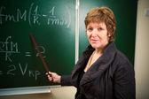 Professeur de mathématiques avec pointeur — Photo