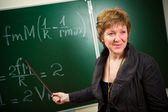Teacher with pointer — Stock Photo