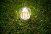 Lámpara de led en la hierba — Foto de Stock