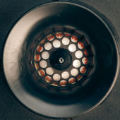 Retro high-frequency loudspeaker — Stock Photo