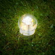 Led lamp on grass — Stock Photo #9208886