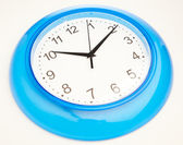 Blue office clock — Stock Photo