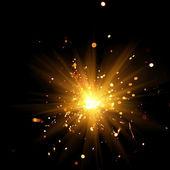 Hořící prskavka — Stock fotografie