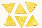 Mexican nachos on white — Stock Photo
