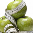 Stock Photo: Apples to lose weight.