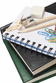School supplies background. — Stock Photo