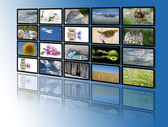 Monitors with relaxing images. — Stock Photo