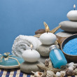 Spa background in blue. — Stockfoto