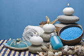 Spa background in blue. — Stock Photo