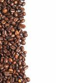 咖啡豆和副本空间. — 图库照片