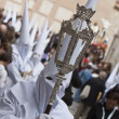 Nazarenes in a procession — Stock Photo