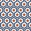 Geometry star pattern — Vettoriali Stock