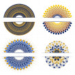 Set of decorative round design elements — Imagen vectorial
