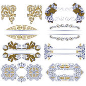 Set of decorative design borders — Stock Vector