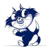 Catroon cat smile — Stock Vector