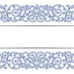 Antique vintage lace border — Stock Vector